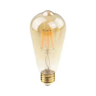 Lampada filamento led st38 e27 2w 200lm 2400k 127-220v