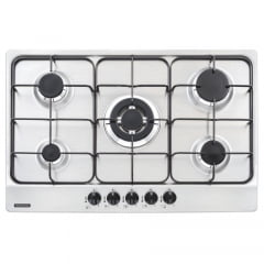 COOKTOP GAS INOX NEW PENTA 5GXTRI75